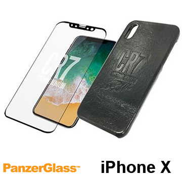 【iPhone X】PanzerGlass CR7限量保護組 - Leather 黑色
