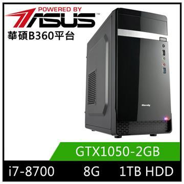 華碩B360平台[迅雷邪神]i7六核獨顯電玩機