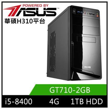 華碩H310平台[星岩武神]i5六核獨顯電玩機