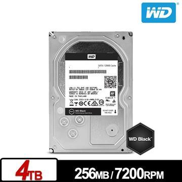 WD 3.5吋 4TB SATA硬碟(黑標)