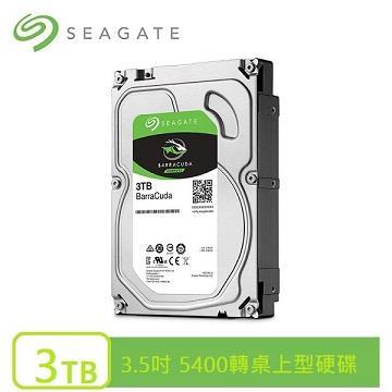 Seagate 新梭魚 3.5吋 3TB SATA桌上型硬碟(ST3000DM007)