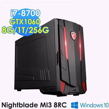微星(MSI) Nightblade MI3 8RC-002 8代i7 GTX1060電競桌機