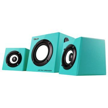 T.C.STAR TCS4000 2.1多媒體喇叭-藍綠