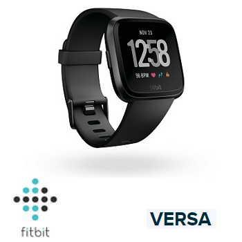 【經典款】Fitbit Versa 智慧手錶 - 黑色錶框黑色錶帶