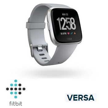 【經典款】Fitbit Versa 智慧手錶 - 銀色錶框灰色錶帶
