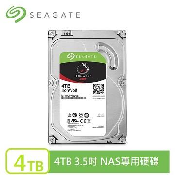Seagate 那嘶狼 3.5吋 4TB NAS硬碟