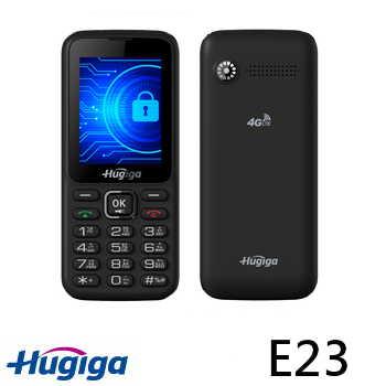 Hugiga E23 4G直立式資安手機 - 黑色