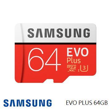 「公司貨」【U3 / 64G】SAMSUNG EVO Plus MicroSD記憶卡(MB-MC64GA)