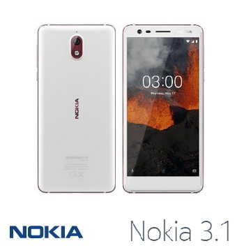 【2G / 16G】NOKIA 3.1 5.2吋 Android One智慧型手機 - 白色