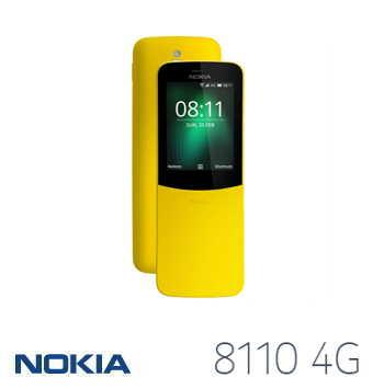 【LTE版】NOKIA 8110 2.4吋香蕉機復刻版 - 黃色