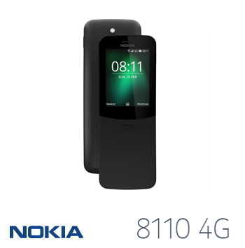【LTE版】NOKIA 8110 2.4吋香蕉機復刻版 - 黑色
