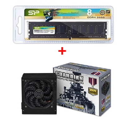 廣穎Long-Dimm DDR4-2666/8G+守護者 500W 電源供應器 AD-5520N2-72/