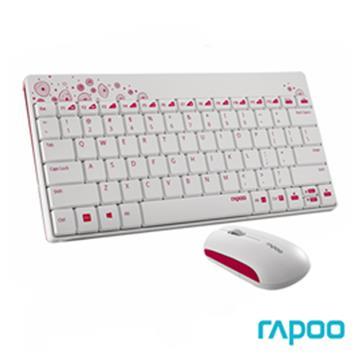 雷柏8000無線光學鍵鼠組-白(8000/WH)