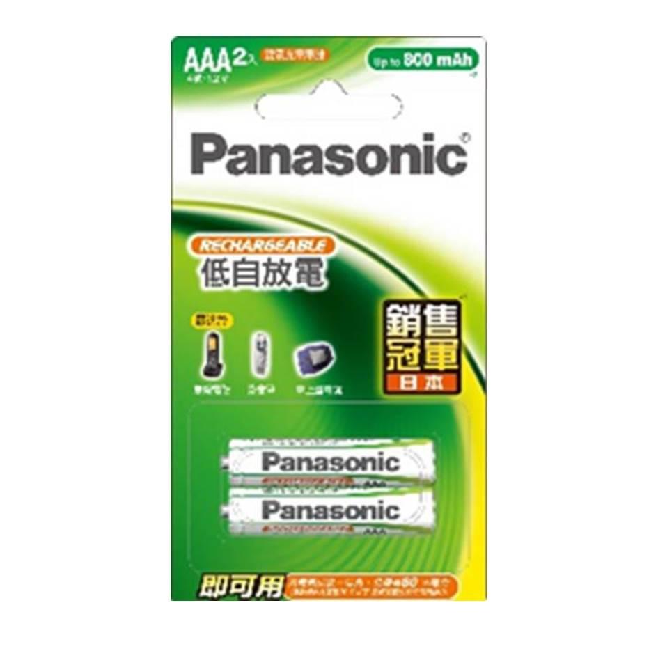 Panasonic 標準型充電電池4號2入(HHR-4MVT/2B)