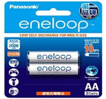 Panasonic eneloop充電電池3號2入(BK-3MCCE2BTW)