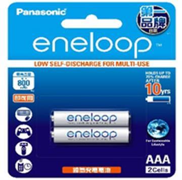Panasonic eneloop充電電池4號2入(BK-4MCCE2BTW)
